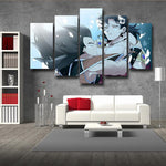 Dragon Ball Broly Bardock Shounen 5pc Wall Art Decor Posters Canvas Prints - DBZ Saiyan