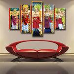 Dragon Ball Broly Saiyan Evolution 5pc Wall Art Decor Posters Canvas Prints - DBZ Saiyan