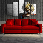 Dragon Ball Goku Super Saiyan Hero Japan Anime 5pc Canvas Prints Wall Art - DBZ Saiyan