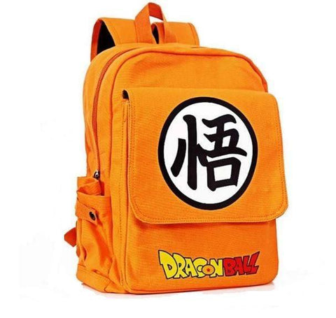 Dragon Ball Orange Shoulder School Bag Backpack - DBZ Saiyan