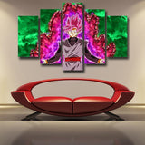 Dragon Ball Super Black Goku 5pc Wall Art Decor Posters Canvas Prints - DBZ Saiyan