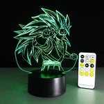 Dragon Ball Super Saiyan 3 Vegito Color Changing Acrylic Panel Lamp - DBZ Saiyan