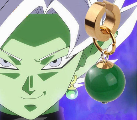 Dragon Ball Supreme Kais Potara Goku Black Fusion Zamasu Cosplay Earrings - DBZ Saiyan