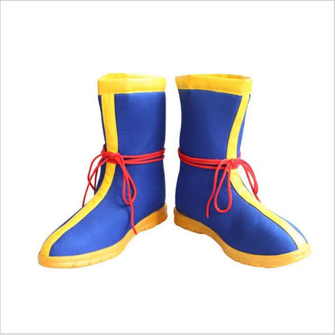 Dragon Ball Z Son Goku Saiyan DBZ Cosplay Blue Boots Shoes - DBZ Saiyan