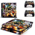 Dragon Ball and Street Fighter Game Heroes Dope Skin Decal for PS4 - DBZ Saiyan