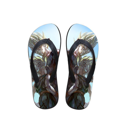 Father and Son Bloody Majin Vegeta Trunks Sandals Flip Flops Shoes - DBZ Saiyan