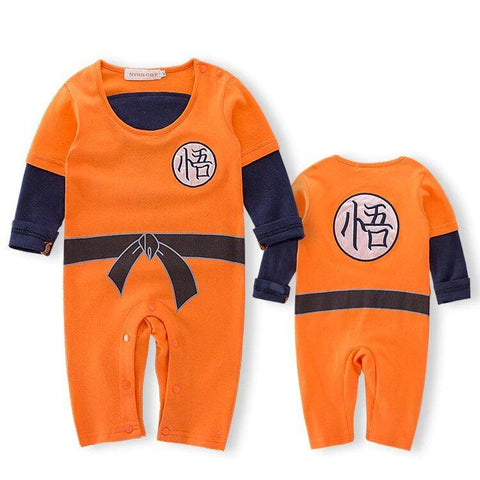 DBZ Long Sleeve Goku's Kanji Black Belt Cosplay Baby Jumpsuit - DBZ Saiyan