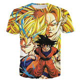 Kakarot Son Goku Forms Super Saiyan Transformation 3D T-Shirt - DBZ Saiyan
