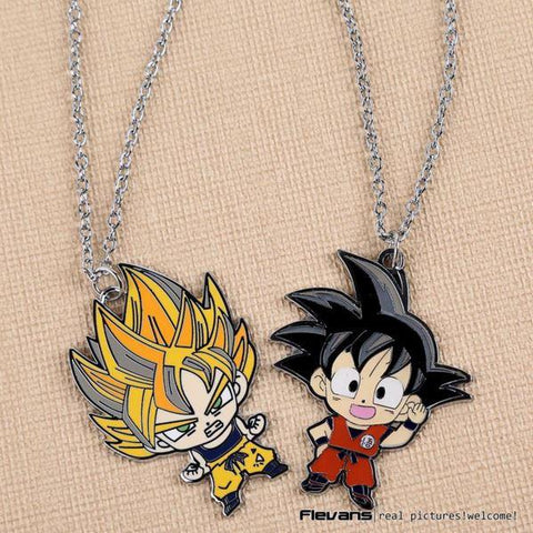 Kid Goku Super Saiyan Cute Metal Pendant Necklace - DBZ Saiyan