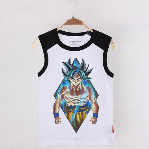 Dragon Ball Z Goku Ultra Instinct Blue Aura Kids Tank Top - DBZ Saiyan