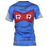 Lazuli Android 18 Blue Outfit Red Ribbon Army 3D Women Gym T-Shirt - DBZ Saiyan