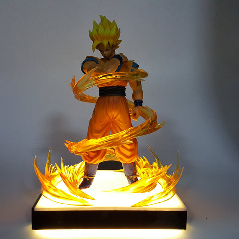 DBZ Son Goku Dope Super Saiyan 2 Pose Yellow Aura DIY 3D Light Lamp - DBZ Saiyan