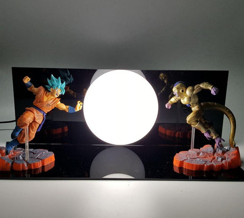 Resurrection F Super Saiyan God Blue Goku Vs Frieza Villain Battle DIY Lamp - DBZ Saiyan