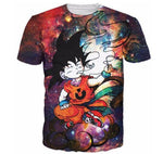 Smoking Kid Goky Outer Space Galaxy 3D Dope T-Shirt - DBZ Saiyan