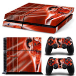 Son Goku Saiyan Warrior Dope Red Skin Decal for PS4 - DBZ Saiyan
