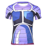Space Pirate Saiyan Turles Battle Suit Armor 3D Fitness T-shirt - DBZ Saiyan