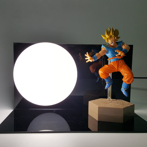 DBZ Goku Super Saiyan Continuous Kamehameha Wave DIY 3D Light Lamp - DBZ Saiyan