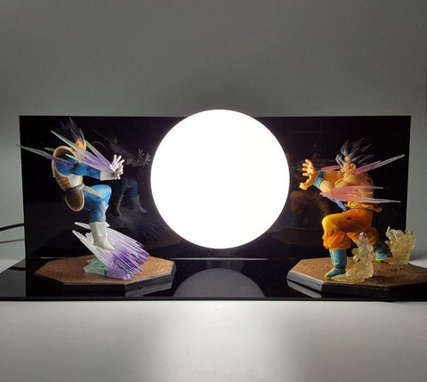 Vegeta Vs Goku Dragon Ball Kamehameha Battle Fight Display DIY Lamp - DBZ Saiyan