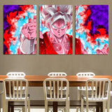 DBZ Goku Whis Symbol Kaioken Power Aura 3pc Canvas Prints Wall Art - DBZ Saiyan