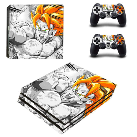 Dragon Ball Anime Son Goku Impressive Battle PS4 Pro Skin - DBZ Saiyan