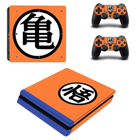 Dragon Ball Anime Master Roshi Kanji Design PS4 Slim Skin - DBZ Saiyan