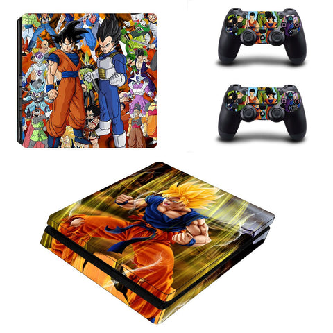 Dragon Ball All Characters Standing Awesome PS4 Slim Skin - DBZ Saiyan
