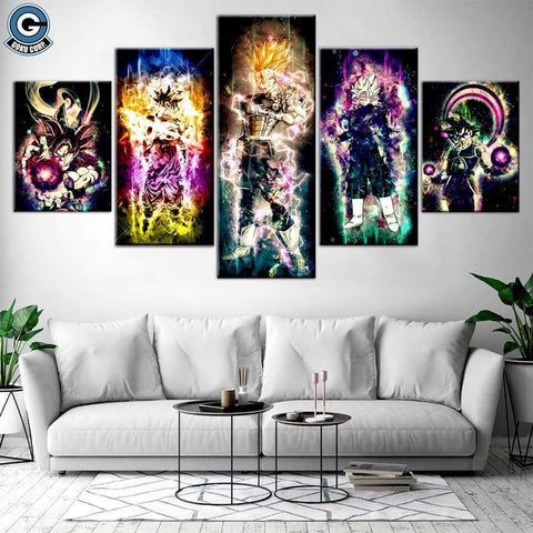 Dragon Ball Canvas Wall Art <br>Dope - DBZ Saiyan