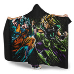 Goku VS Broly Hooded Blanket - DBZ Saiyan
