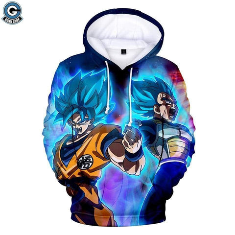 Dragon Ball Z Hoodie <br>Goku Vegeta Super Saiyan Blue (Nike) - DBZ Saiyan
