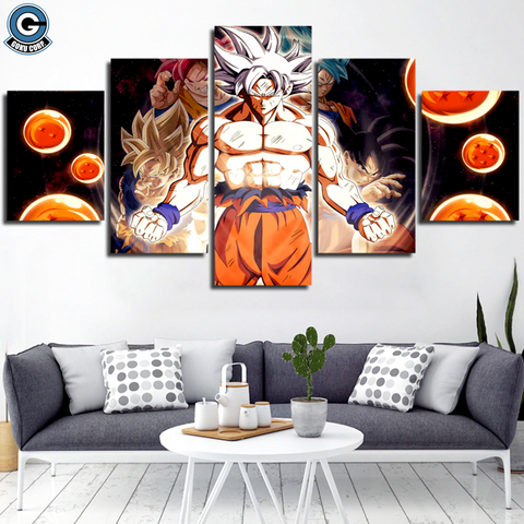 Dragon Ball Canvas Wall Art Goku All Forms - DBZ Saiyan