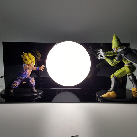 Super Saiyan Gohan Cell Kamehameha Wave DIY 3D Light Lamp - DBZ Saiyan