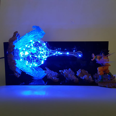 Son Goku Kamehameha Wave Blue Flash Ball DIY 3D LED Light Lamp - DBZ Saiyan