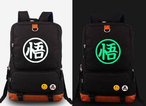 Glow In The Dark Anime Backpack - DBZ Saiyan