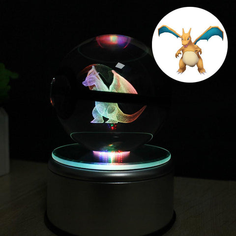 Pokemon - Crystal Light Pokeball - DBZ Saiyan