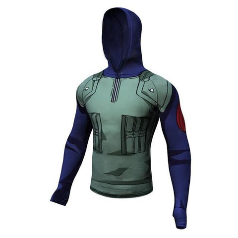 Kakashi Hooded Long Sleeve - DBZ Saiyan