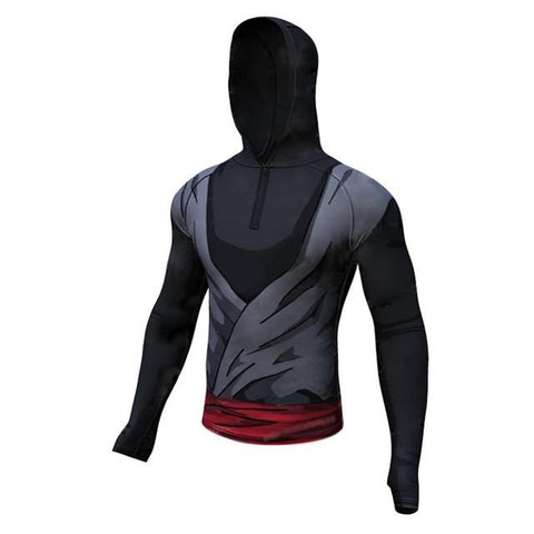 Goku Black Hooded Long Sleeve - DBZ Saiyan