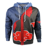 Damaged Akatsuki Cloud Zipper Hoodie - DBZ Saiyan