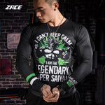 I Can't Keep Calm - Broly's Gym Compression Long Sleeve - DBZ Saiyan