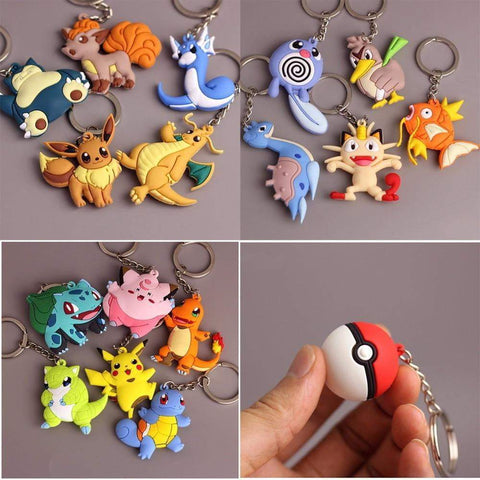 Pokemon Key Ring Keychain - DBZ Saiyan