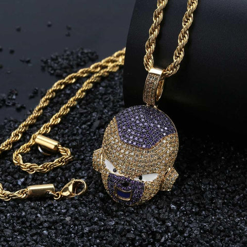 Iced Out Frieza Pendant Necklace - DBZ Saiyan