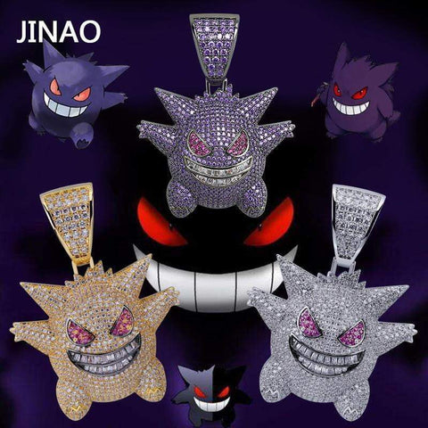 Jewelry Mask Gengar Necklace Pokemon Pendant Chain - DBZ Saiyan