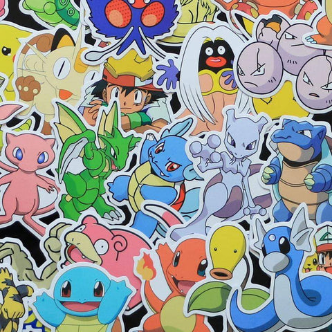 50 pieces Pokemon Stickers - DBZ Saiyan