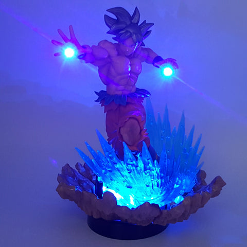 DBZ Son Goku Kaioken Ultra Instinct Blue Aura DIY 3D LED Light Lamp - DBZ Saiyan