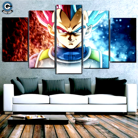 Dragon Ball Super Canvas Wall Art <br>Vegeta SSJ God - DBZ Saiyan