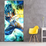 SSGSS Vegito Spirit Sword Wall Canvas - DBZ Saiyan