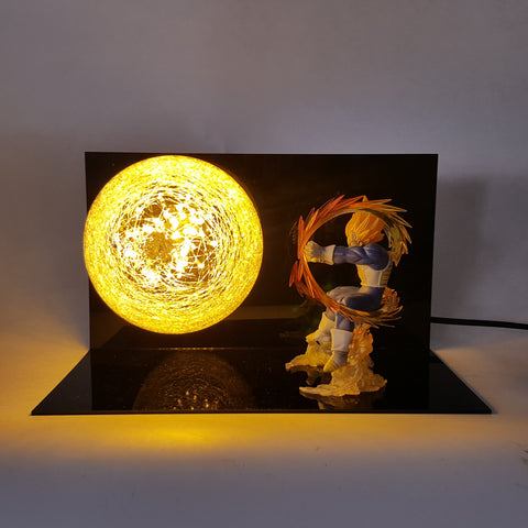 Vegeta Super Saiyan Final Flash Attack Flash Ball DIY 3D LED Light Lamp - DBZ Saiyan