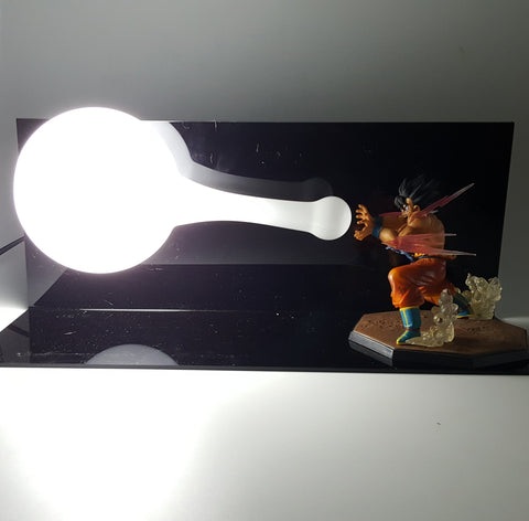 DBZ Son Goku Powerful Super Kamehameha Wave DIY 3D Light Lamp - DBZ Saiyan