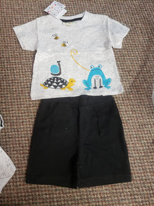 Neutral Bees Short and Tee Set