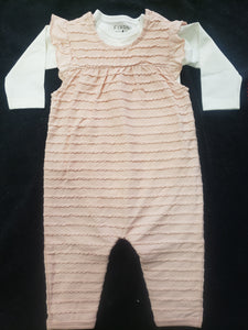 Romper and Diaper Shirt Set - Pink