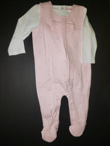 Footie and Shirt Set - Pink Bow